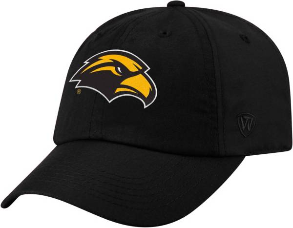 Top of the World Men's Southern Miss Golden Eagles Staple Adjustable Black Hat product image