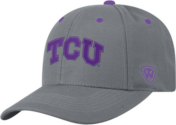 Top of the World Men's TCU Horned Frogs Grey Triple Threat Adjustable Hat product image