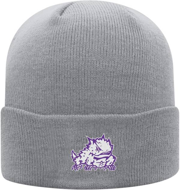 Top of the World Men's TCU Horned Frogs Grey Cuff Knit Beanie product image