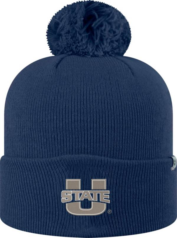 Top of the World Men's Utah State Aggies Blue Pom Knit Beanie product image