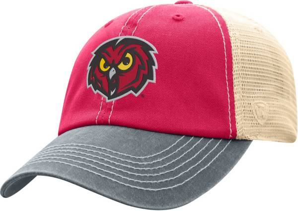 Top of the World Men's Temple Owls Cherry/White Off Road Adjustable Hat product image
