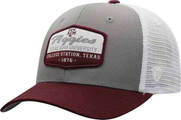 Top of the World Men's Texas A&M Aggies Grey/Maroon/White Verge Adjustable Hat product image