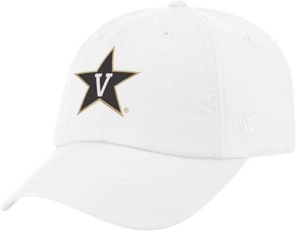 Top of the World Men's Vanderbilt Commodores Staple Adjustable White Hat product image
