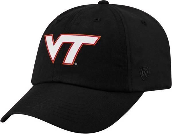 Top of the World Men's Virginia Tech Hokies Staple Adjustable Black Hat product image