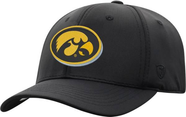 Top of the World Men's Iowa Hawkeyes Phenom-Bob 1Fit Flex Black Hat product image