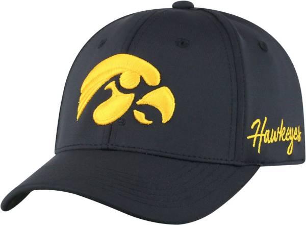 Top of the World Men's Iowa Hawkeyes Phenom 1Fit Flex Black Hat product image