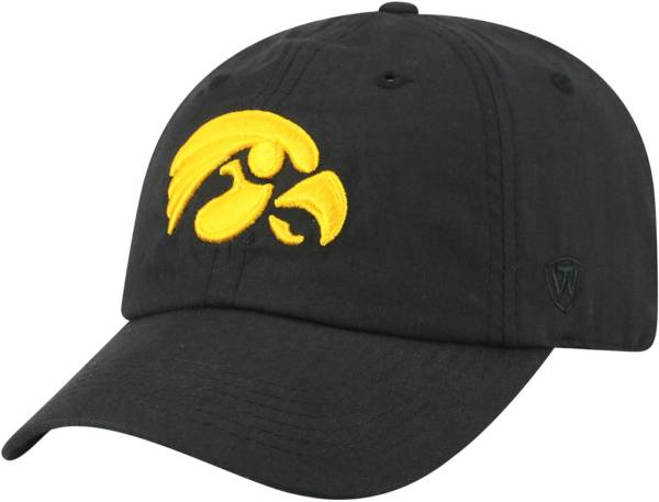 Top of the World Men's Iowa Hawkeyes Staple Adjustable Black Hat product image