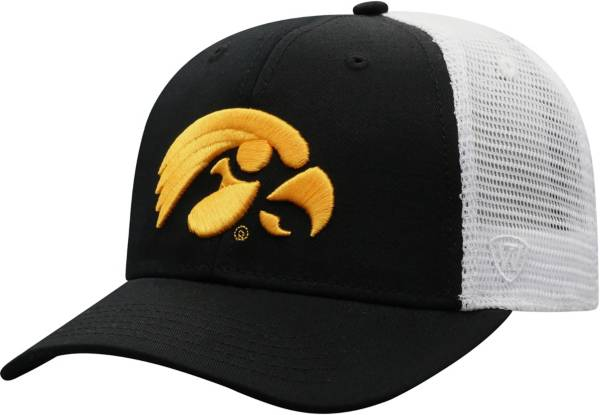 Top of the World Men's Iowa Hawkeyes Black/White Trucker Adjustable Hat product image