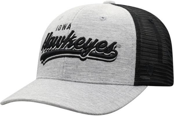 Top of the World Men's Iowa Hawkeyes Grey/Black Cutter Adjustable Hat product image