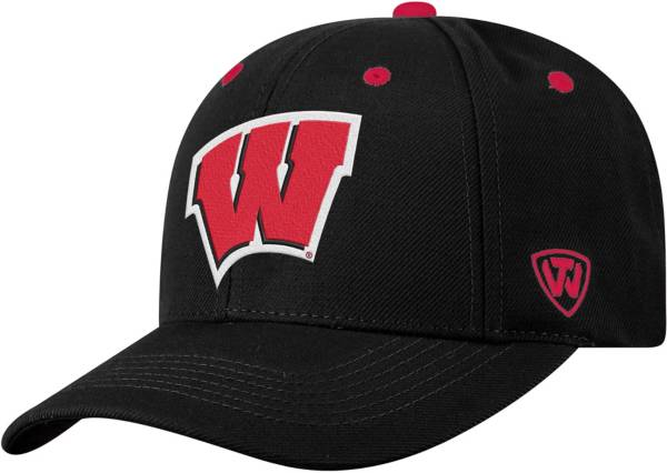 Top of the World Men's Wisconsin Badgers Triple Threat Adjustable Black Hat product image