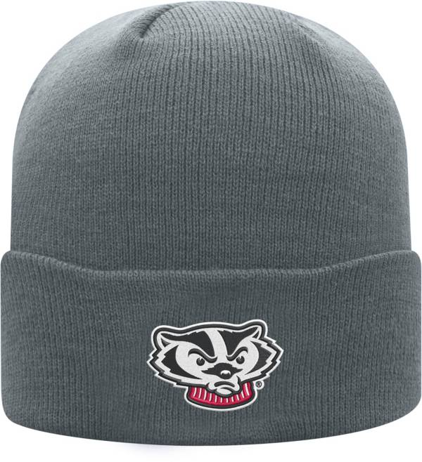 Top of the World Men's Wisconsin Badgers Grey Cuff Knit Beanie product image