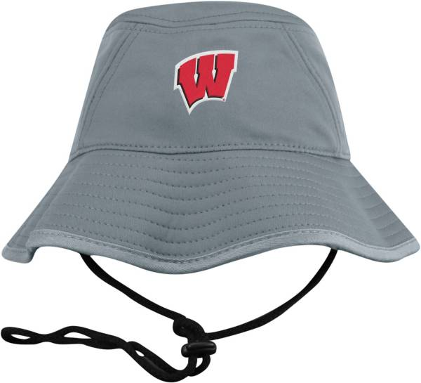 Top of the World Men's Wisconsin Badgers Grey Bucket Hat product image