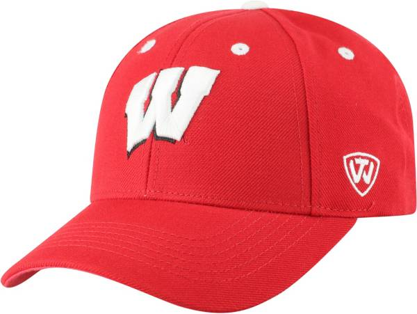 Top of the World Men's Wisconsin Badgers Red Triple Threat Adjustable Hat product image