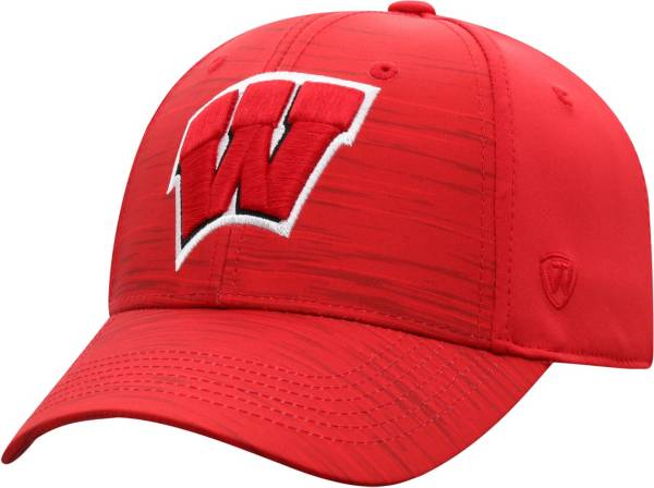 Top of the World Men's Wisconsin Badgers Red Intrude 1Fit Flex Hat product image