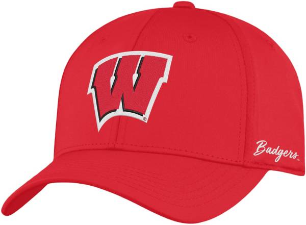 Top of the World Men's Wisconsin Badgers Red Phenom 1Fit Flex Hat product image