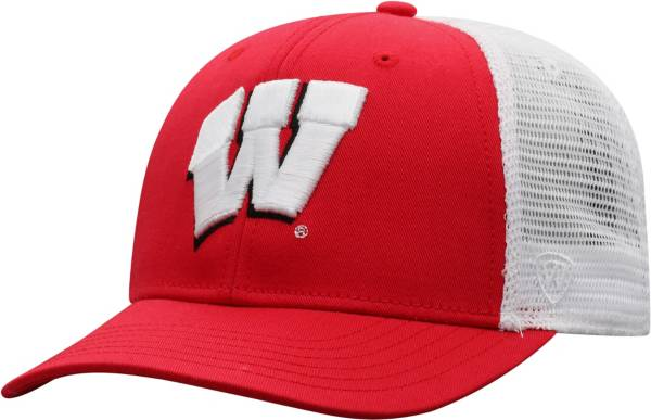 Top of the World Men's Wisconsin Badgers Red/White Trucker Adjustable Hat product image