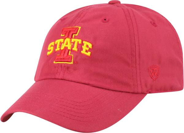 Top of the World Men's Iowa State Cyclones Cardinal Staple Adjustable Hat product image