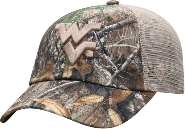 Top of the World Men's West Virginia Mountaineers Camo Acorn Adjustable Hat product image