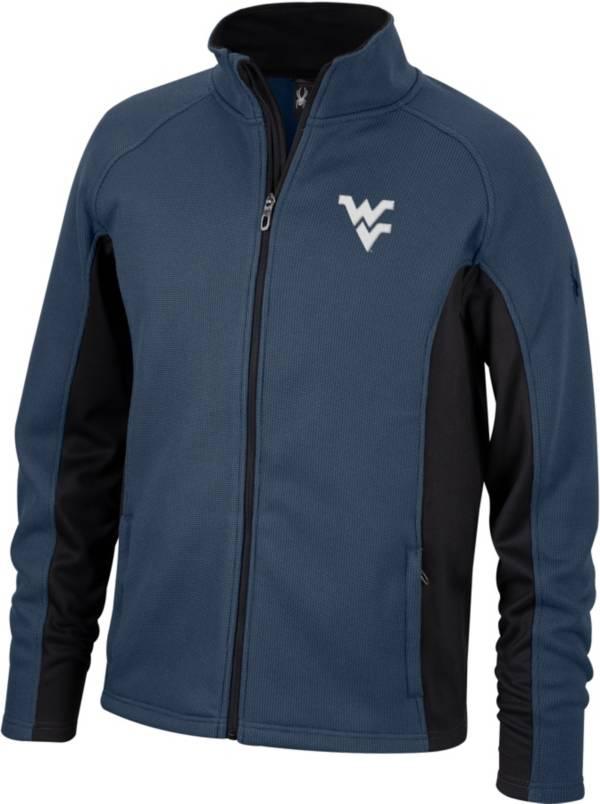 Spyder Men's West Virginia Mountaineers Blue Constant Full-Zip Fleece Jacket product image
