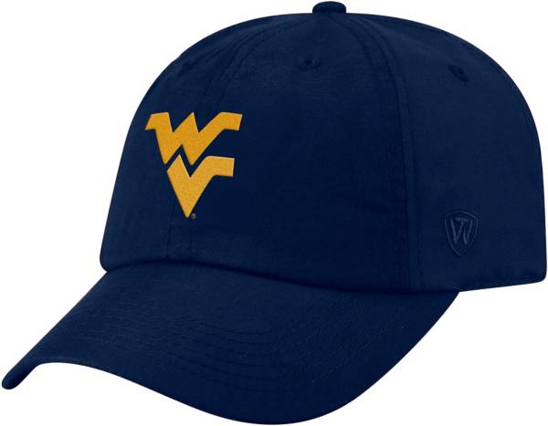 Top of the World Men's West Virginia Mountaineers Blue Staple Adjustable Hat product image