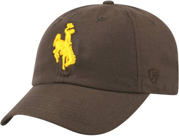 Top of the World Men's Wyoming Cowboys Brown Staple Adjustable Hat product image