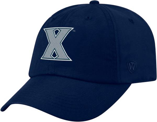 Top of the World Men's Xavier Musketeers Blue Staple Adjustable Hat product image