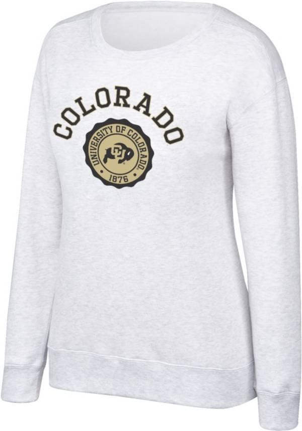 Top of the World Women's Colorado Buffaloes Grey Essential Crew Neck Sweatshirt product image