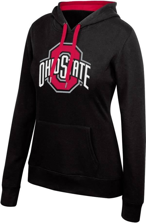 Scarlet & Gray Women's Ohio State Buckeyes Essential Black Hoodie product image