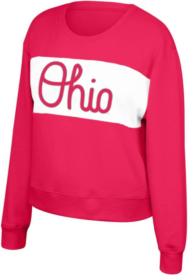 Scarlet & Gray Women's Ohio State Buckeyes Scarlet Superstar Crew Neck Sweatshirt product image