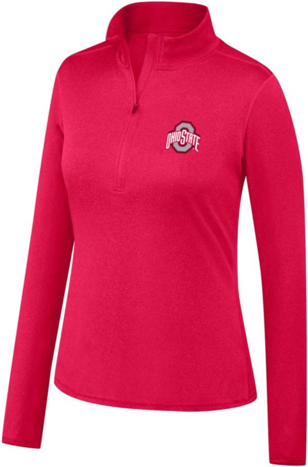 Scarlet & Gray Women's Ohio State Buckeyes Scarlet Quarter-Zip Shirt product image
