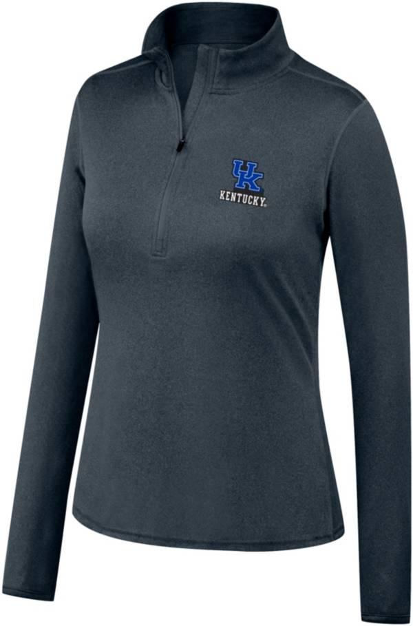 Top of the World Women's Kentucky Wildcats Grey Quarter-Zip Pullover Shirt product image