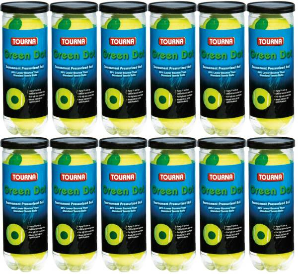 Tourna Kids' Pressurized Green Dot Tennis Balls - 12 pack product image