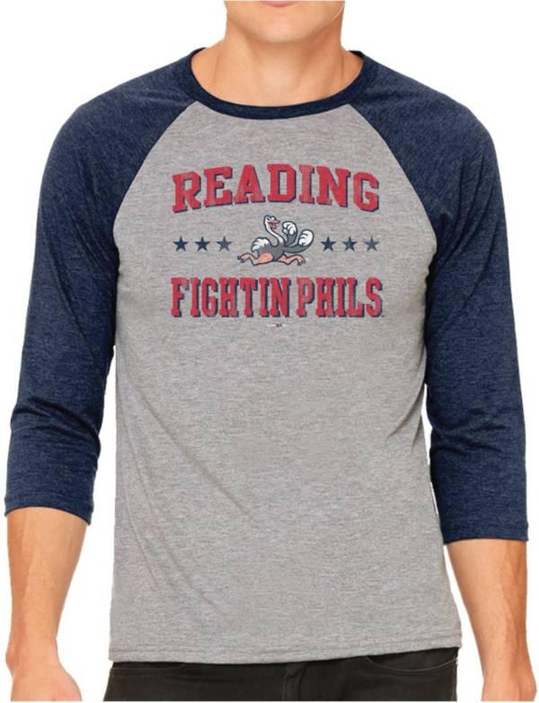 The Victory Men's Reading Fightin Phils Raglan Three-Quarter Sleeve Shirt product image