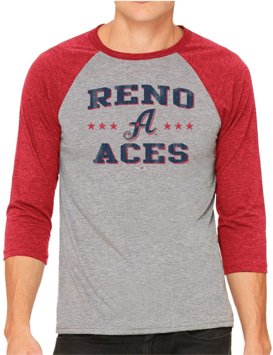 a649a112c77d The Victory Men's Reno Aces Raglan Three-Quarter Sleeve Shirt ...