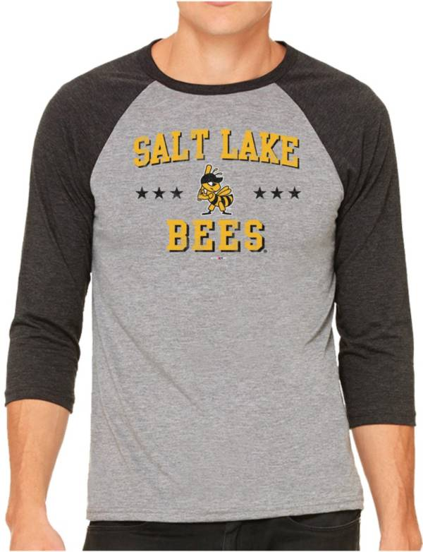 The Victory Men's Salt Lake Bees Raglan Three-Quarter Sleeve Shirt product image