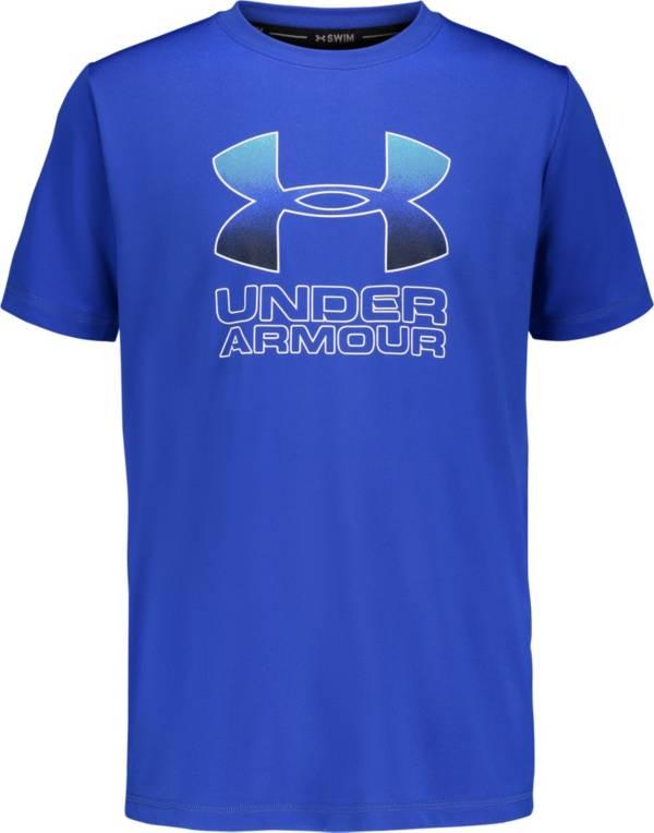 Under Armour Boys' Big Logo Flow Short Sleeve Rash Guard product image