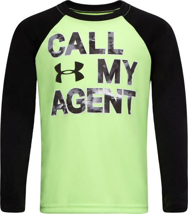 Under Armour Little Boys' Call My Agent Raglan Long Sleeve Shirt product image