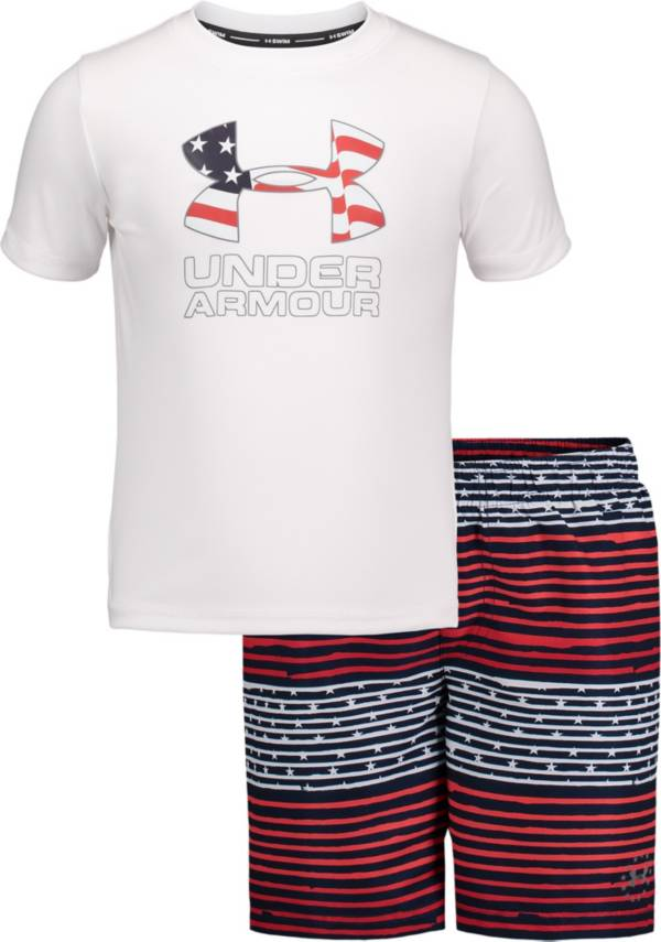 Under Armour Boys' Free Gradient Stripe Volley T-Shirt and Board Shorts 2-Piece Set product image