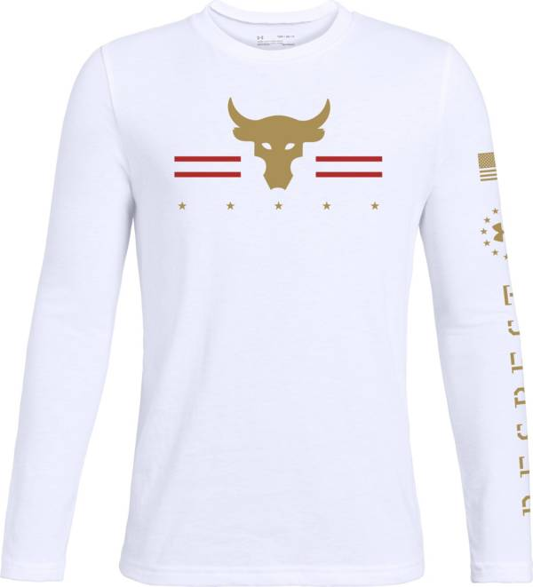 Under Armour Boy's Project Rock Respect Long Sleeve Shirt product image