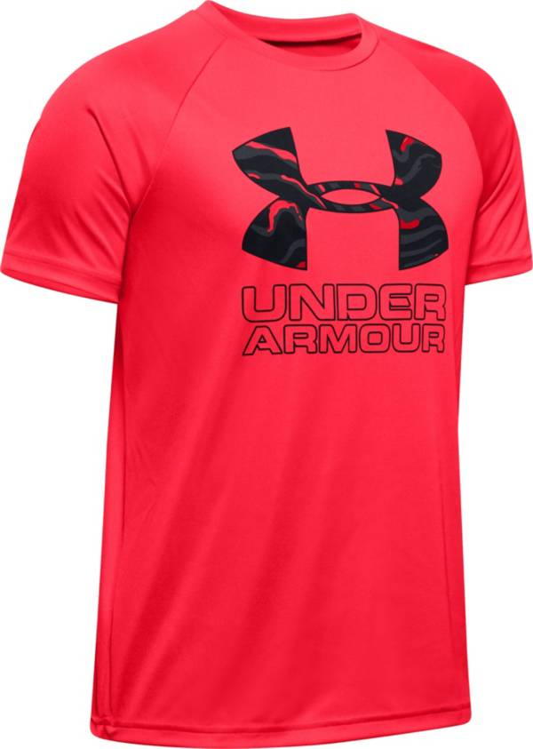 Under Armour Boys' Tech Hybrid Print Fill T-Shirt product image