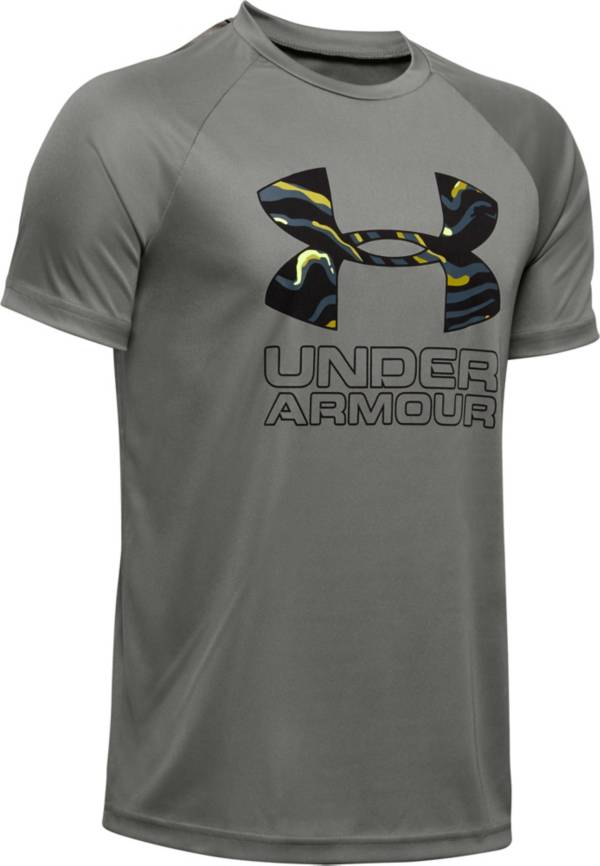 Under Armour Boys' Tech Hybrid Print Fill T-Shirt product image