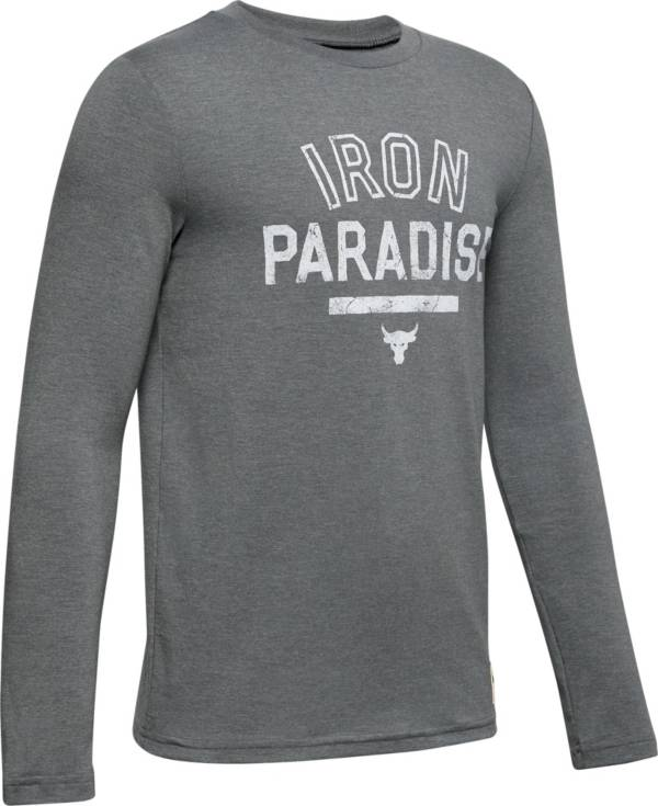 Under Armour Boys' Project Rock Iron Paradise Graphic Long Sleeve Shirt product image