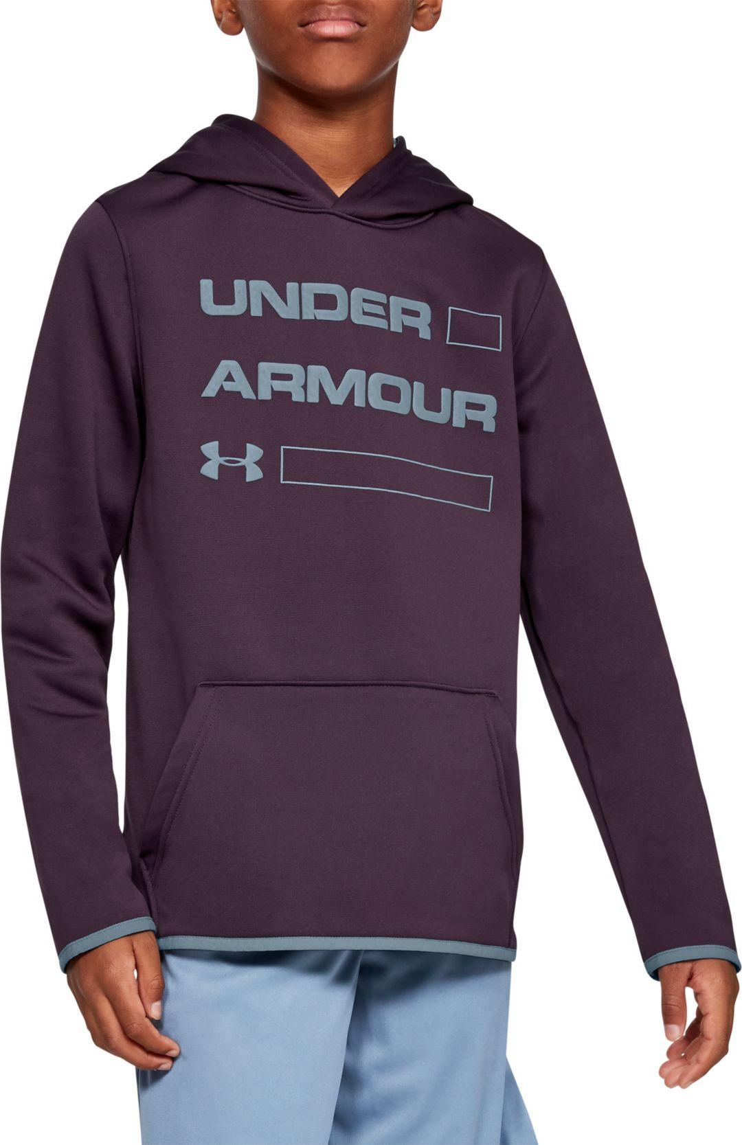 3832518f Under Armour Boy's Armour Fleece Wordmark Hoodie