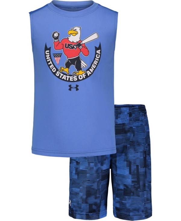 Under Armour Little Boys' USA Tank Top and Shorts Set product image