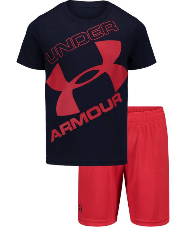 Under Armour Boys' Tilted Big Logo Shorts and T-Shirt 2-Piece Set product image