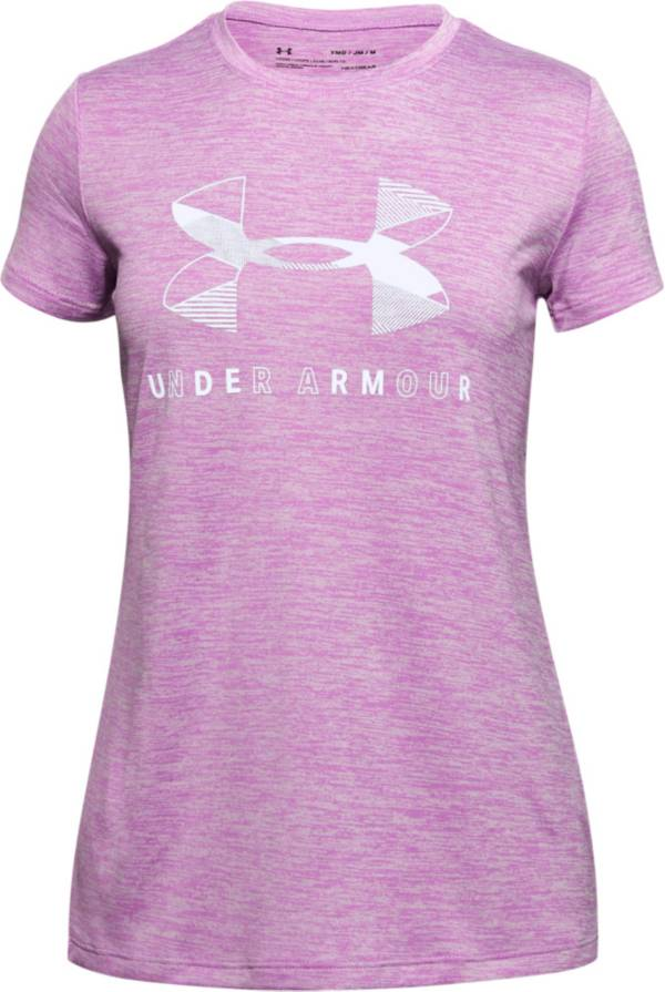 Under Armour Girls' Twist Big Logo Graphic T-Shirt product image