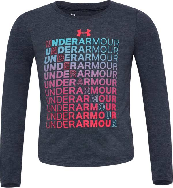 Under Armour Little Girls' Branded Long Sleeve Shirt product image