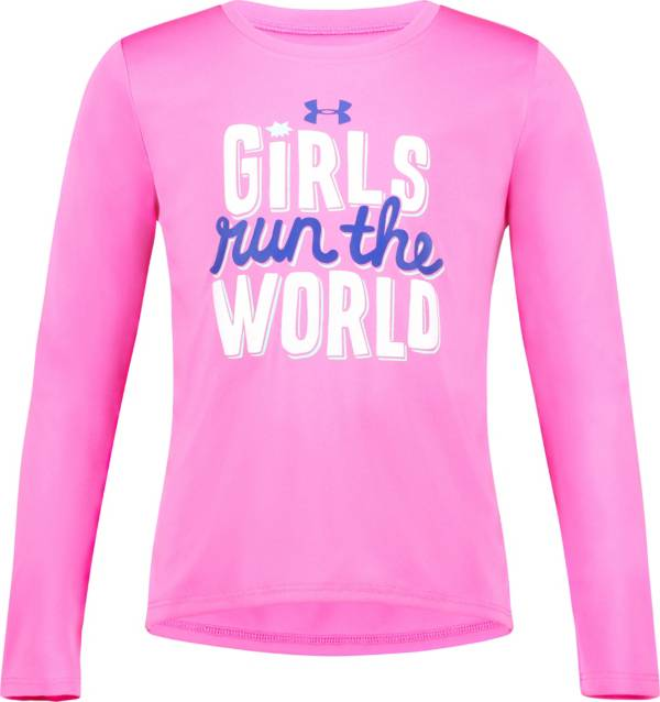 Under Armour Little Girls' Run The World Graphic Long Sleeve Shirt product image