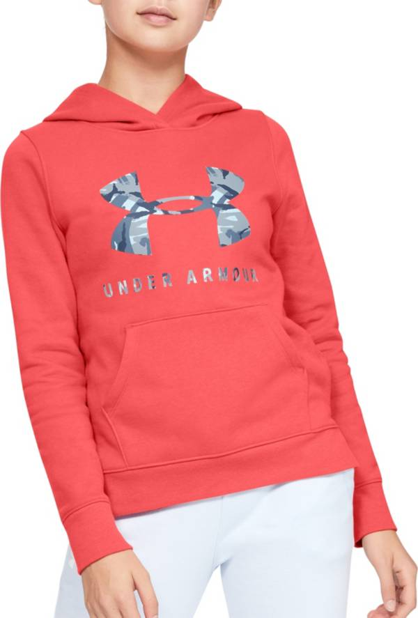 Under Armour Girl's Rival Print Logo Hoodie product image