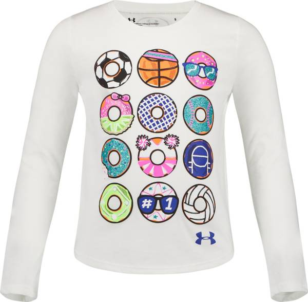 Under Armour Little Girls' Sporty Dozen Graphic Long Sleeve Shirt product image